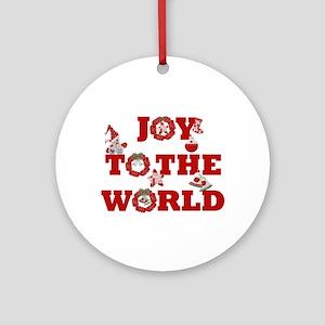 Joy To The World Porcelain Christmas Ornament