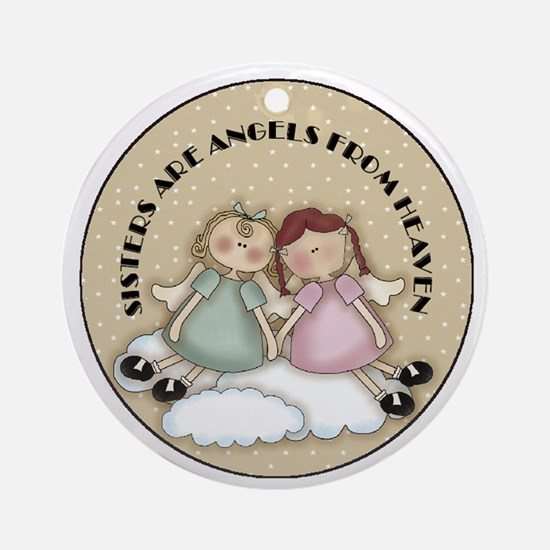 Sisters Are Angels Christmas Tree Ornament