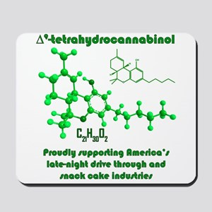 THC molecule Mousepad