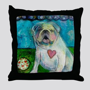 LoveABull Throw Pillow