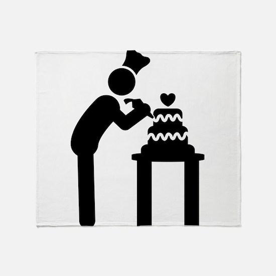 Cake Making Throw Blanket