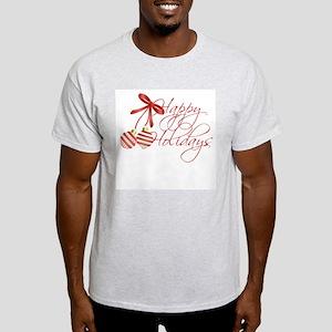 Happy Holidays Ash Grey T-Shirt