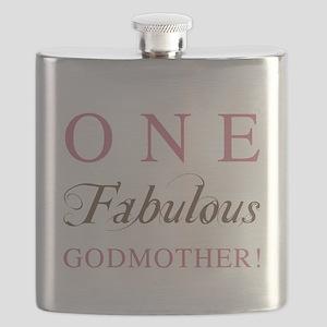 One Fabulous Godmother Flask