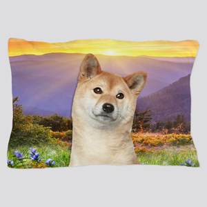 Shiba Inu Meadow Pillow Case