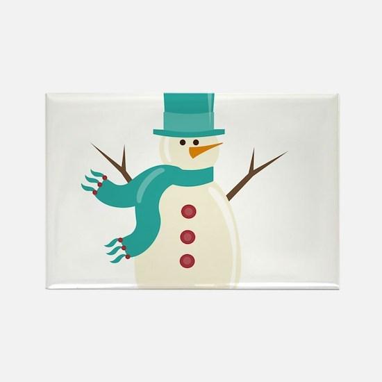 Snowman Rectangle Magnet
