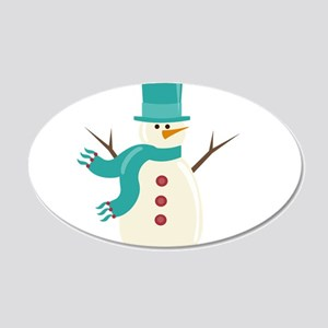 Snowman 20x12 Oval Wall Decal