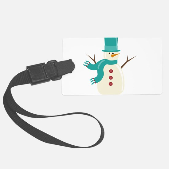 Snowman Large Luggage Tag