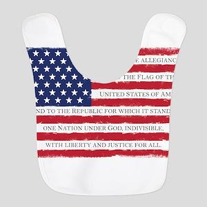 Pledge American flag color Grun Polyester Baby Bib