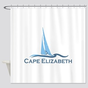 Cape Elizabeth ME - Sailing Design. Shower Curtain