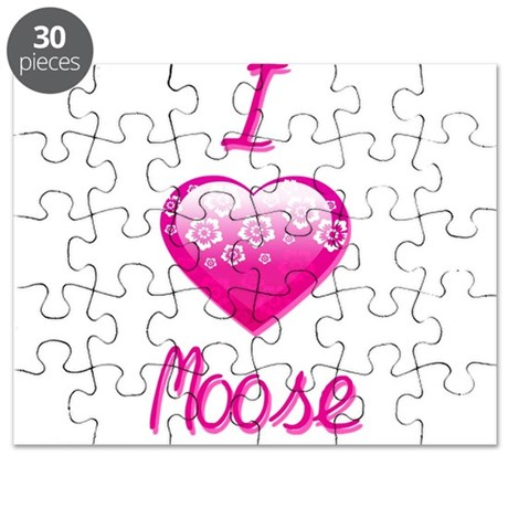 I Love/Heart Moose Puzzle