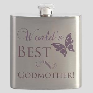 World's Best Godmother Flask