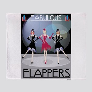 Fabulous Flappers Throw Blanket