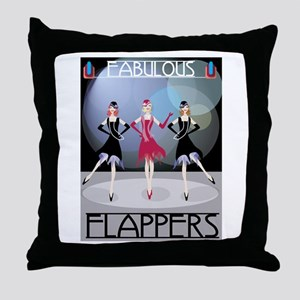 Fabulous Flappers Throw Pillow