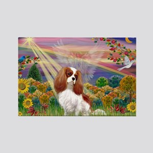 Autumn Angel & Blenheim Rectangle Magnet