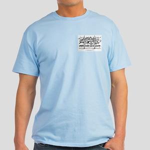 Dachau - Never Again Light T-Shirt