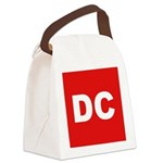 DC (Red and White) Canvas Lunch Bag