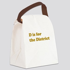 district_stdt_png Canvas Lunch Bag