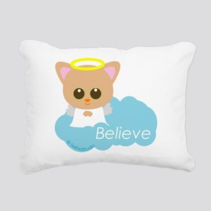 cat angel Rectangular Canvas Pillow