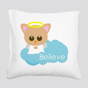 cat angel Square Canvas Pillow