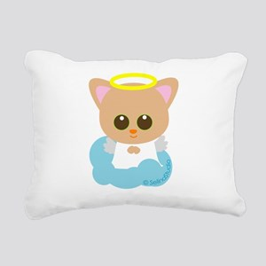 cat angel2 Rectangular Canvas Pillow