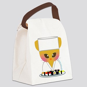 sushi chef cat Canvas Lunch Bag