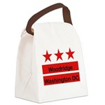 dc flag trans_woodridge_png Canvas Lunch Bag