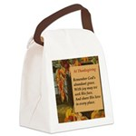 At Thanksgiving Poem Canvas Lunch Bag