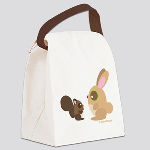 squrrel+bunny Canvas Lunch Bag