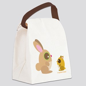 hamster+bunny Canvas Lunch Bag