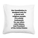 John Adams Quote Square Canvas Pillow
