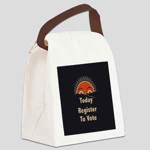 Today Register to Vote Canvas Lunch Bag