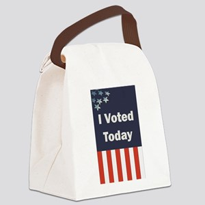 I Voted Today Canvas Lunch Bag
