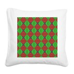 Merry Christmas Fractal Square Canvas Pillow