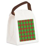 Merry Christmas Fractal Canvas Lunch Bag