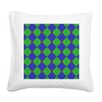 Dad's Tie Fractal Square Canvas Pillow