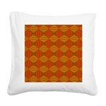 Artwork Orange Fractal Square Canvas Pillow