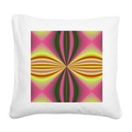 pink_yellow001 Square Canvas Pillow