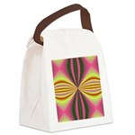 pink_yellow001 Canvas Lunch Bag