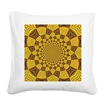 Red & Gold Dance Fractal Square Canvas Pillow