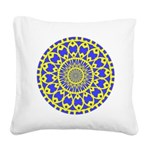yellow_wheels_png Square Canvas Pillow
