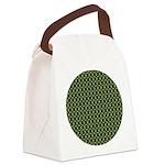 redgeranium_square Canvas Lunch Bag