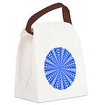 lt_dk_blue_square Canvas Lunch Bag