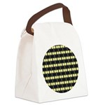 yellow_flower_square Canvas Lunch Bag