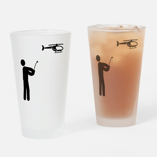RC Helicopter Drinking Glass