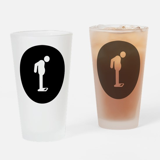 Weight Check Drinking Glass
