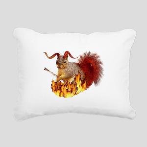 Krampus Squirrel Rectangular Canvas Pillow