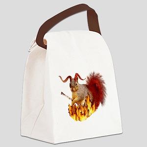 Krampus Squirrel Canvas Lunch Bag