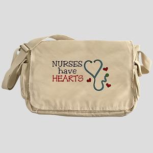 Nurses Have Hearts Messenger Bag