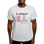 In Memory Uterine Cancer Light T-Shirt
