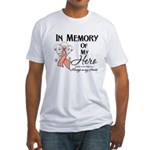 In Memory Uterine Cancer Fitted T-Shirt